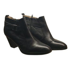 Land's End black ankle boots booties size …